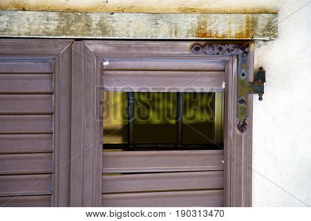 Italy Abstract  Window Mornago  Brown Plastic