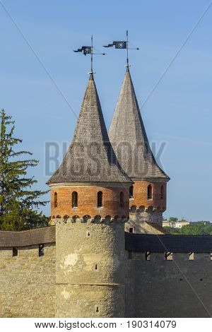 Towers of the Castle in Kamyanets-Podilsky Ukraine