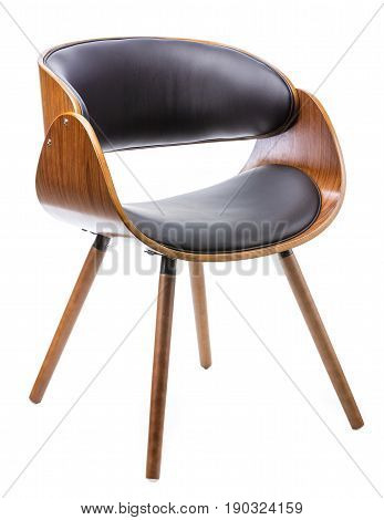 Comfortable and practical chair of modern design on a white background