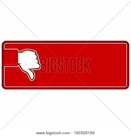 A vector illustration of a Thumbs Down Banner.
