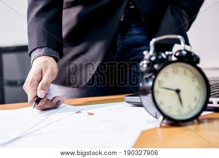 business deadline time to finish work goal and success