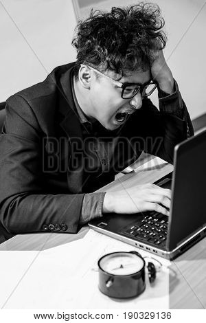 busy and headache person uand nsuccessful businessman