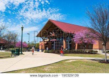 Allen Texas. USA - March 28 2015. Allen Recreational Visitor Center. Parks and Recreation