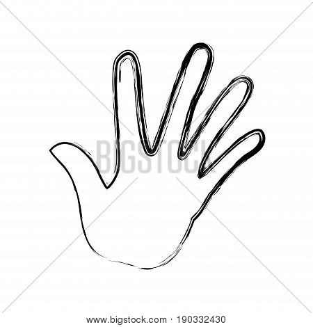 hand human with five finger show palm vctor illustration