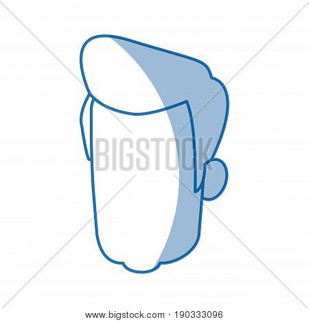 head man human portrait hair default image vector illustration