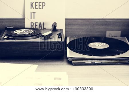 Classic vinyl record music media entertainment