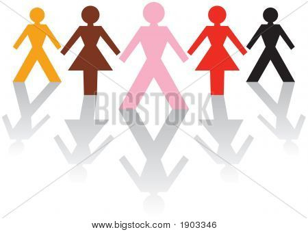 Multicultural Male & Female Business Team