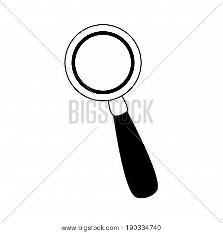 magnifying glass magnifier or loupe icon vector illustration
