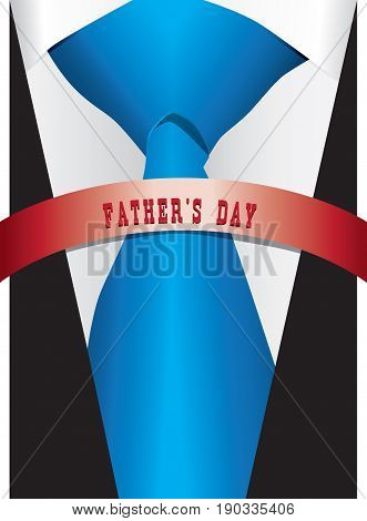 Poster - Costume with a silk tie for Father's Day