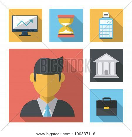 white background with business leaflet model one vector illustration