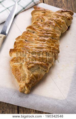Fish shaped fishy pie Puff pastry pie