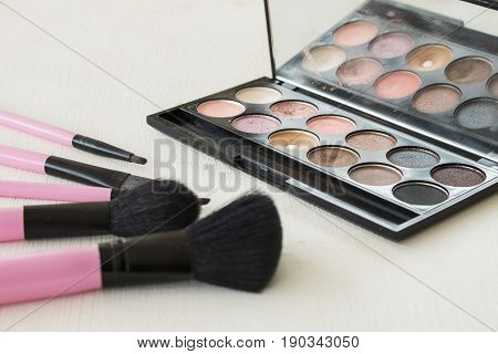 beauty skin face cosmetics makeup for colorful woman