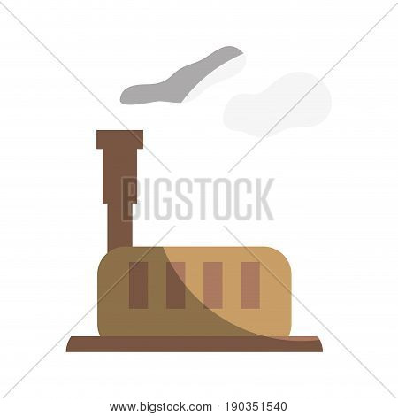industrial factory with pollution contamination of environment vector illustration