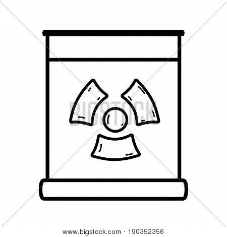 line poster with radiation symbol of danger vector illustration