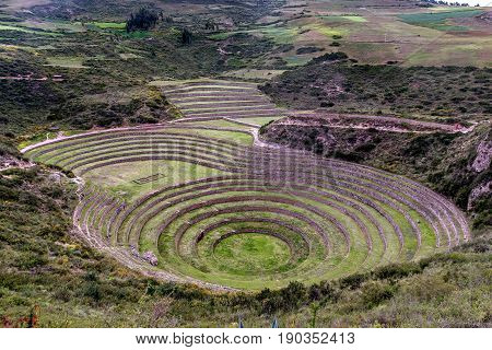 Inca Agricultural research station Moray in Peru