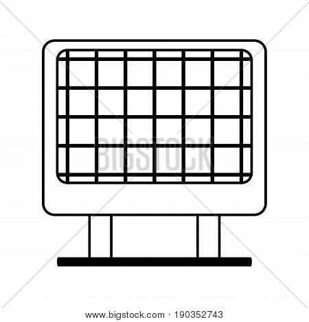 line solar energy to protection and enviroment care vector illustration