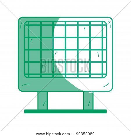 silhouette solar energy to protection and enviroment care vector illustration