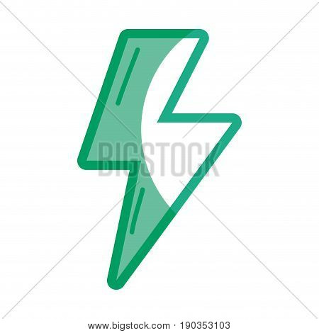 silhouette energy hazard sign to electrical warning vector illustration