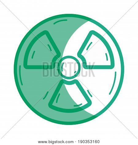 silhouette radiation symbol to dangerous and ecology contamination vector illustration