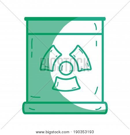 silhouette poster with radiation symbol of danger vector illustration