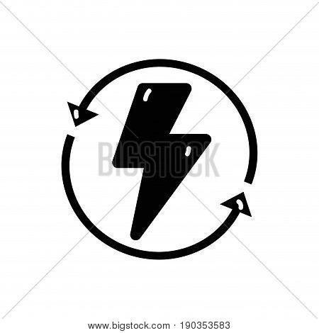 contour energy hazard symbol with arrows around vector illustration