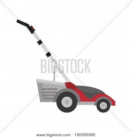 grass cutter machine vector illustration graphic design icon
