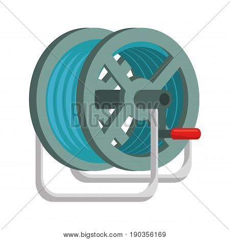 hose rolled up vector illustration graphic design icon