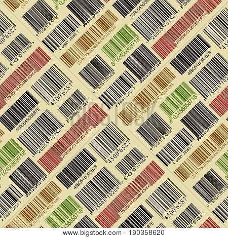 The Seamless background with a bar codes.