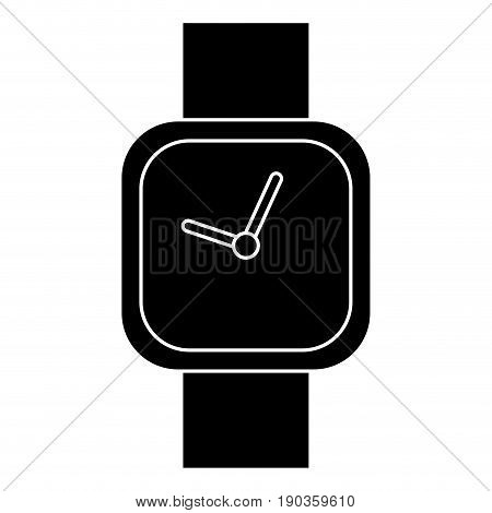 watch icon over white background vector illustration