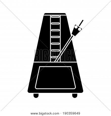 metronome icon over white backgroun dvector illustration