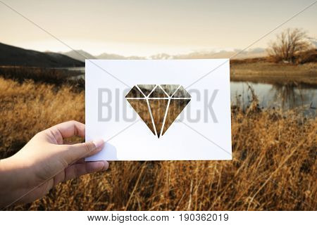Valuables jewelry perforated paper diamond
