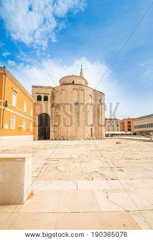 Saint Donatus (Sveti Donat) church on Forum in Zadar, Dalmatia, Croatia