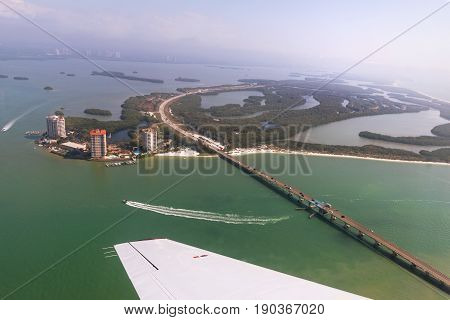 Aerial view to the Lovers Key State Recreation Area Outstanding Florida Water Florida