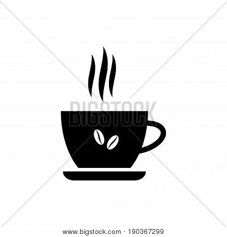 Coffe cup icon isolated on white background