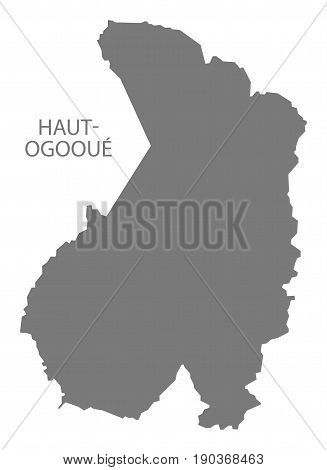 Haut-Ogooue map grey illustration silhouette province shape