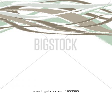 White Green And Tan Swoopy Lines Background