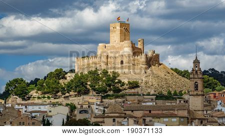 Top of the hill with Biar castle in Alicante, Spain