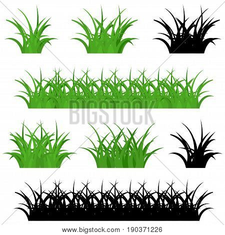 Grass vector icon,  isolated on white background