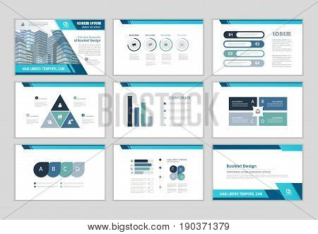 Blue layout brochure design brochure template for business presentation brochure annual report flyer and leaflet cover with Infographic brochure elements for business data visualization.
