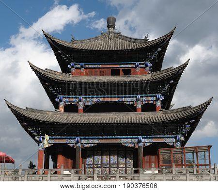 Dali old city Main Gate to the city China. Yunnan province