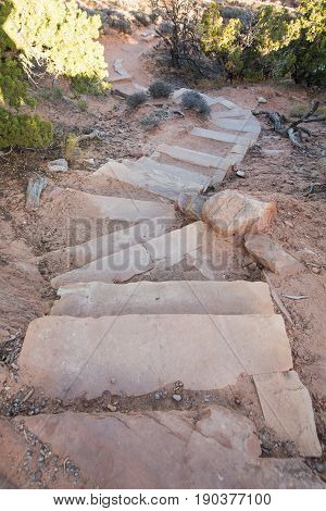 Sandy Steps Red stone or Rocks Pathway