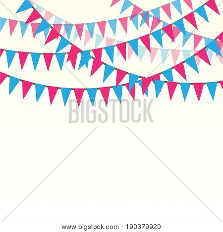 White background with color flags for holiday