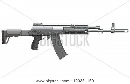 Russian automatic rifle AK-12. Vector realistic illustration