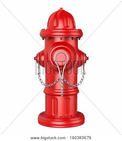 Fire Hydrant isolated on white background. 3D render