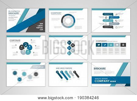 Blue brochure design brochure template for business presentation brochure annual report flyer and leaflet cover brochure with Infographic brochure elements for business data visualization.