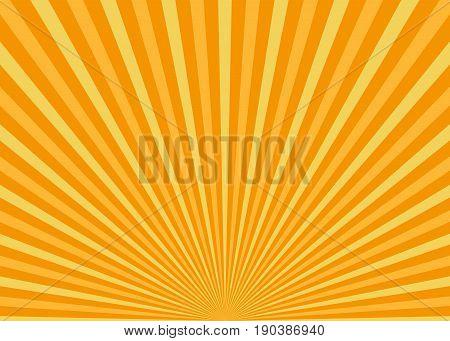 Sun rays. Shiny sun background, vector illustration