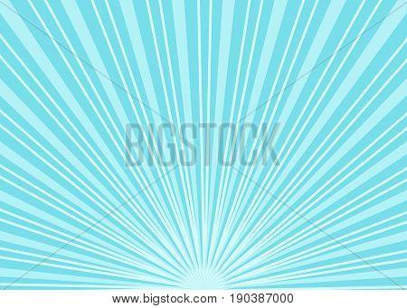 Sun rays. Summer background with blue sun rays