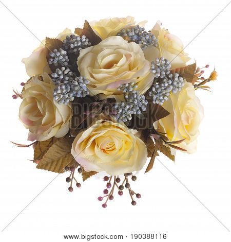 Floral Composition With Yellow Roses