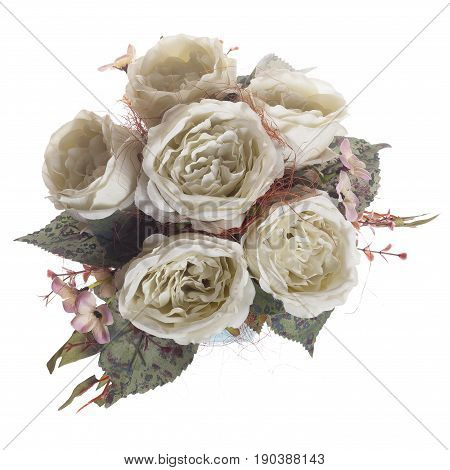 Floral Composition With White Peonies