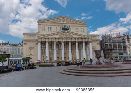 Russia, Moscow, June 8, 2017: The Bolshoi Theatre.